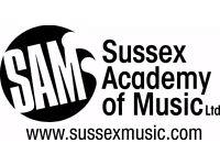 Sussex Instrument + Vocal tutors
