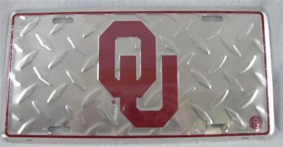 Oklahoma Sooners License Plate Car Truck Auto Tag OU Diamond Football Fan NCAA