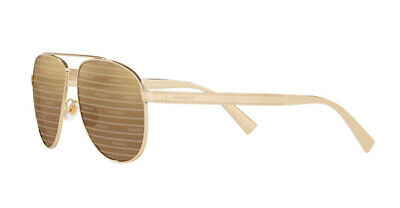NWT Versace Sunglasses VE 2209 1252V3 Pale Gold / Brown Tamp Versace Silver (Versace Sunglasses Logo)