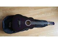 Ashton Classical Guitar - 3/4 scale Trans Purple - Good Condition