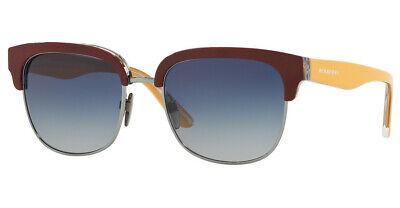 Burberry Burgundy and Yellow Square Unisex Sunglasses, Blue Gradient Lens, 53mm Burgundy Gradient Lens