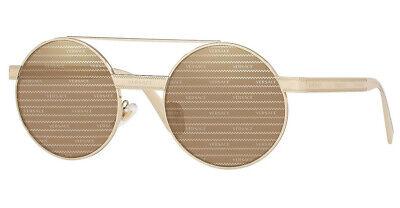 Versace Sunglasses VE2210 1252/V3 Pale Gold / Brown Tamp Versace Silver (Versace Sunglasses Logo)