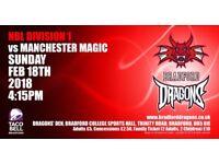 BASKETBALL- Bradford Dragons v Manchester Magic