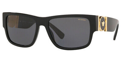 NEW VERSACE VE4369 GB1/81 58mm UNISEX SUNGLASSES BLACK / GREY POLARIZED LENS