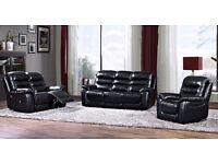 Real Leather Bentley Recliner Sofa Suite 3+2 FREE DELIVERY 12 Months Warranty Beautiful Sofas Suites