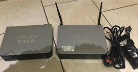 2x Cisco UC320W Unified Communications VOIP SIP WiFi n Router / Gigabit Switch