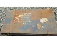 Antique metal Military case trunk chest
