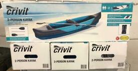 Crivit 2 Person Inflatable Kayak Brand New