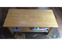 Solid light beech coffee table