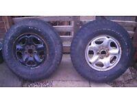 Two Land Rover Freelander 15inch Wheels