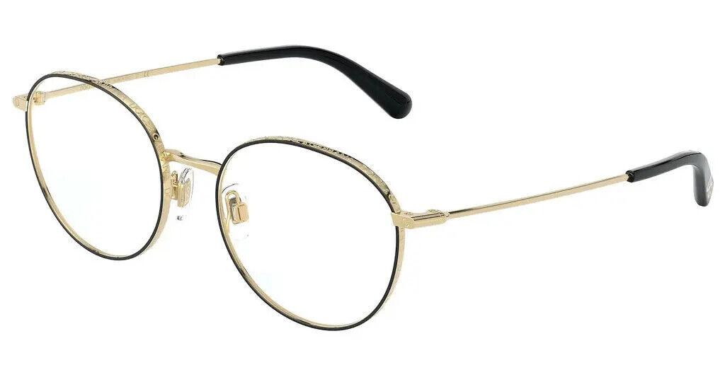 DolceGabbana DG 1322 1334 51 Gold Black Women Eyeglasses Damen Brille