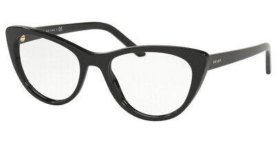 PRADA MILLENIALS PR05XV 1AB1O1 Glasses Optical Spectacle Frames BLACK CAT EYE