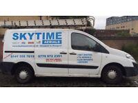 TV wall mount - sky/digital aerial installation /repairs door entry installs /repairs