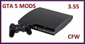CHEAPEST PS3 3.55 SLIM 120GB DEX GTA 5 MENU (MONEY DROP) FULLY WORKING 10 GAMES CHEAP