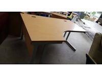 Left Hand Corner Desk- Includes 2 Cable Port Holes
