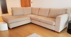 John Lewis Left Hand Facing Chaise Sofa - Elena Mocha