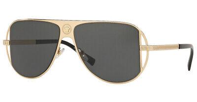Versace Pilot Sunglasses VE2212 100287 57mm Gold / Grey Lens