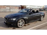 BMW 330i Convertible Black Metallic FSH, Low Mileage