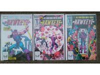 Hawkeye ltd series 1983 issues 1, 3, 4 (of 4) Marvel Comics