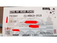 Tickets for 'Give My Head Peace' at Grand Opera House (6pm)-Friday 23rd March 2018