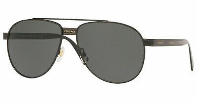 Versace Mens Sunglasses VE2209 100987 Black / Grey Lens