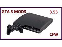 CHEAPEST PS3 3.55 SLIM 120GB DEX GTA 5 MENU (MONEY DROP) FULLY WORKING 10 GAMES CHEAP SWAP S5