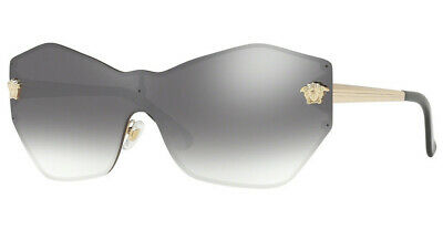 Versace Sunglasses VE2182 12526I Pale Gold / Gradient Grey Mirror Silver