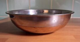 Traditional Stainless Steel Copper Bottom  Handi Bowl Indian cooking Serving Dish 20cm