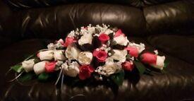 Flower wedding bundle brides teardrop beaque top table flowers and 3 bridesmaids beaques