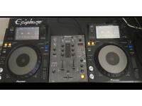 XDJ 1000 (pair) and DJM 400 (CDJ's & Mixer)