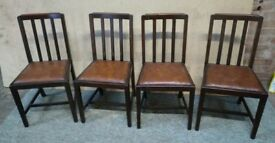 Four dining chairs kitchen chairs