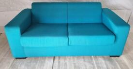 New Ava 2 seater sofa bed-teal