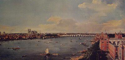 CANALETTO hochw. Lichtdruck NEU London mit Themse ca.1740 Blatt 46x80- RARITÄT