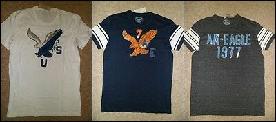 Mens American Eagle Embroidered T Shirt (3 Colors)