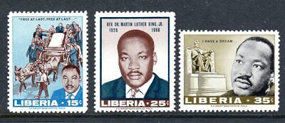 Liberia 1968 - Martin Luther King - Complete Set of 3  MNH