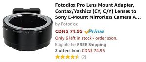 Fotodiox Adapters - CY-NEX (Sony E-mount) and FD-NIK