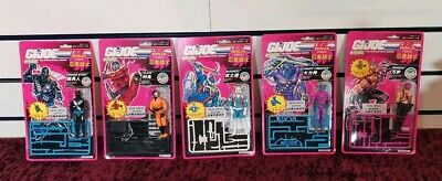 Vintage G.I. Joe Action Force Ninja Force set of 5 Snake Eyes Slice Moc Sealed