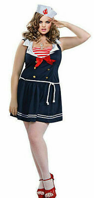17502 50s Pin-up Sailor Girl Plus Size Costume RUBIES(USA) - Plus Size Pin Up Costume