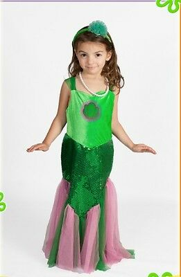 Mermaid little Costume Girls light up with necklace & Headband Glowing Size - Glow Girl Costume