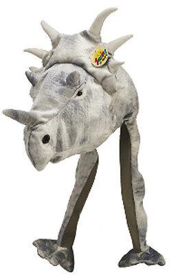 Dino Plüschmütze Dinosaurier Mütze Verkleidung Zubehör Kindergeburtstag Dinos
