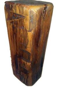 Amish Mennonite Handcrafted Reclaimed Bar Wood Side Table as Xmas Gift - FREE SHIPPING