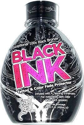 Ed Hardy Black Ink 100x Black Bronzer Indoor Tanning Bed Lotion