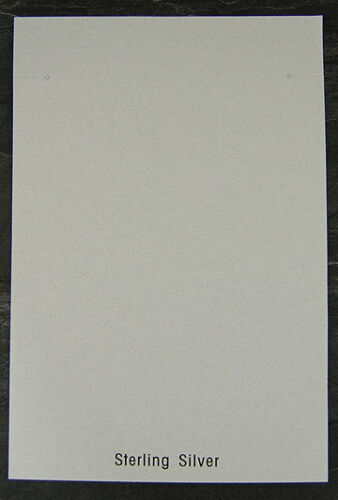 """200 Silver White Necklace Jewelry Cards 5-1/4 x 8""""H"""