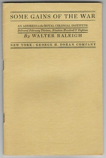 SOME GAINS OF THE WAR - VINTAGE WWI BOOKLET