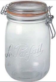 8 x 1-litre Le Parfait preserve jars