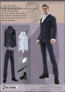 180-1-6-Dollsfigure-Figure-Dark-Blue-Men-Suit-set-Ver-2-Fit-HOT-TOYS-TTL-Body