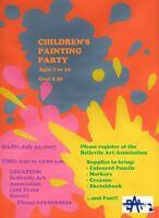 Children's Painting Party at the Belleville Art Association