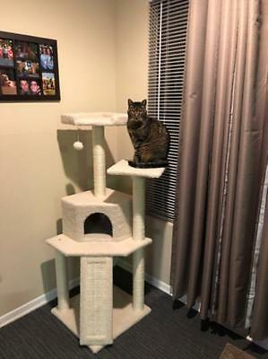 "52"" Cat Tree Tower Condo Furniture Scratch Post Pet Tree Play House By Frisco"