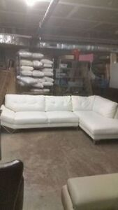 White 2 piece sectional - Delivery Available