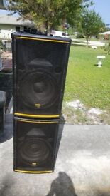 Dj speakers and equipment for sale